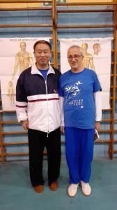 Io, Marco Maiani, col prof. Zhang Jian